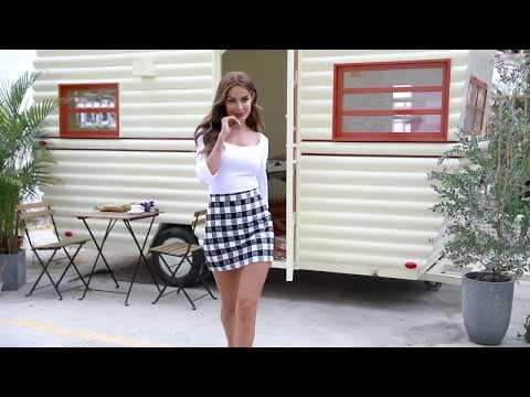 elegant-cute-womens-plaid-skirt