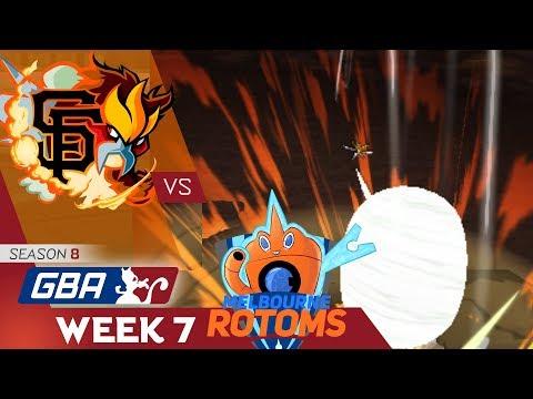 GBA Season 8 Week 7 - San Francisco GiEnteis vs. Melbourne Rotoms (CybertronVGC)