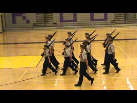 North Salem HS JROTC Armed Drill Team @ Rogers HS, 12 Dec 2015 (Regulation)