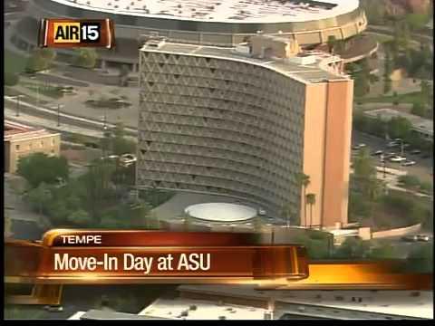 Students preparing to move in at Arizona State University