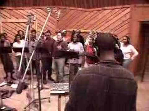 Laura Izibor  Recording Mmm in studio with