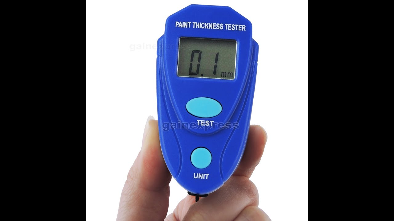 E04-025 Mini Size Digital Coating Thickness Gauge Car Painting Thickness  Tester - YouTube