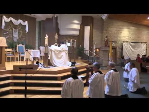 Completion Of Eucharistic Adoration At 2016 North Texas Catholic Men