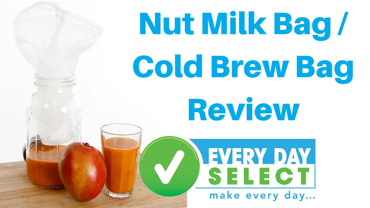 Nut Milk Bag Cold Brew Coffee Filter Almond Food Strainer By Every Day Select