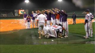 Clemson Baseball vs Davidson Rain Delay Tanning Bed