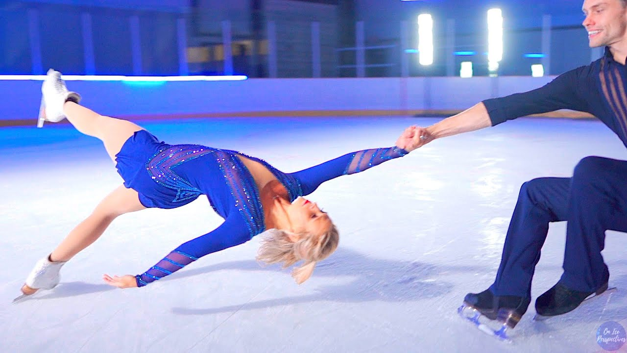 Slow Motion 'Death Spiral' by Olympic Pair Skaters Kirsten Moore-Towers & Michael Marinaro