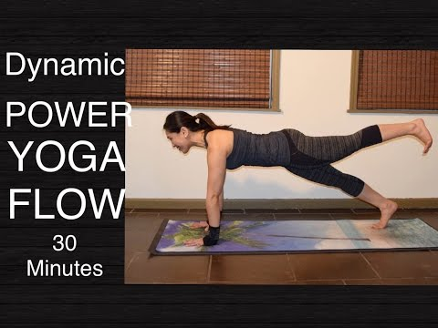 Dynamic Power Vinyasa Flow Yoga Workout for Total Body Strength - 30 Minutes
