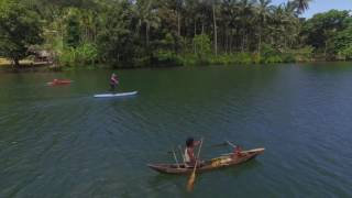 Alotau Canoe Festival and Milne Bay SUP Adventure by Drone