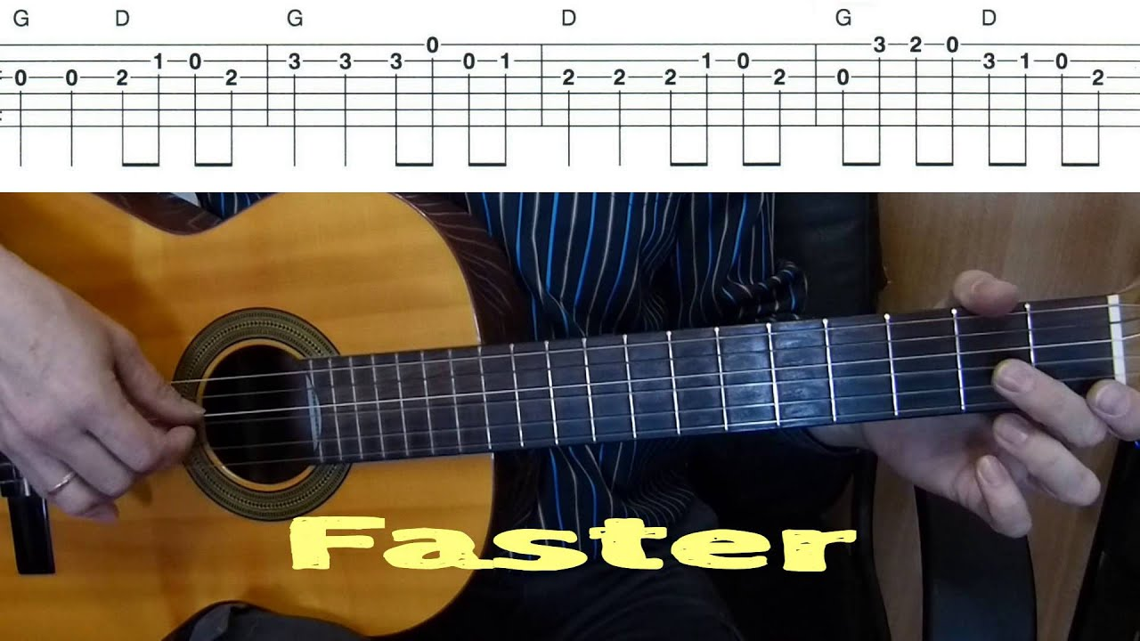 can can offenbach easy guitar melody tutorial tab guitar lesson youtube. Black Bedroom Furniture Sets. Home Design Ideas