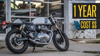 Royal Enfield Continental GT650 // 1 Year Cost of Ownership