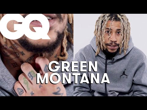 Youtube: Green Montana dévoile ses tattoos : Alaska, piraterie, Louis Vuitton… | GQ