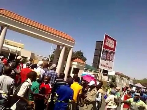 Home made drone flies in Gaborone bus Rank