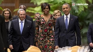 Música y comida cubana reciben a Obama en el Palacio de la Revolución
