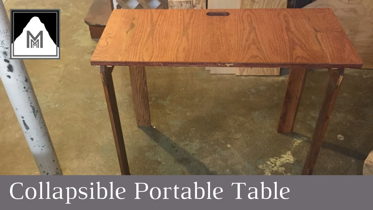 How to build a collapsible portable table youtube geotapseo Gallery