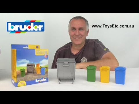 Bruder Garbage Bin Set 02607 Video Review By Toys Etc