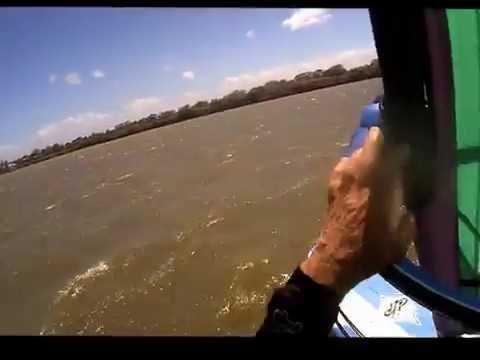 Windsurfing at Victoria Point Queensland 30th Dec 2012