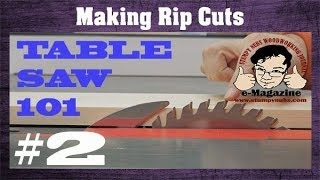 After this video you'll make better table saw RIP cuts