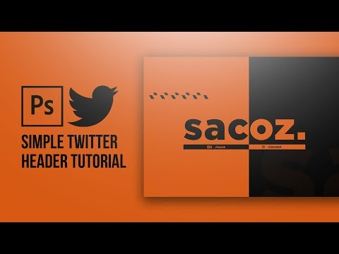 Photoshop Tutorial - How to make a Simple Twitter Header thumbnail