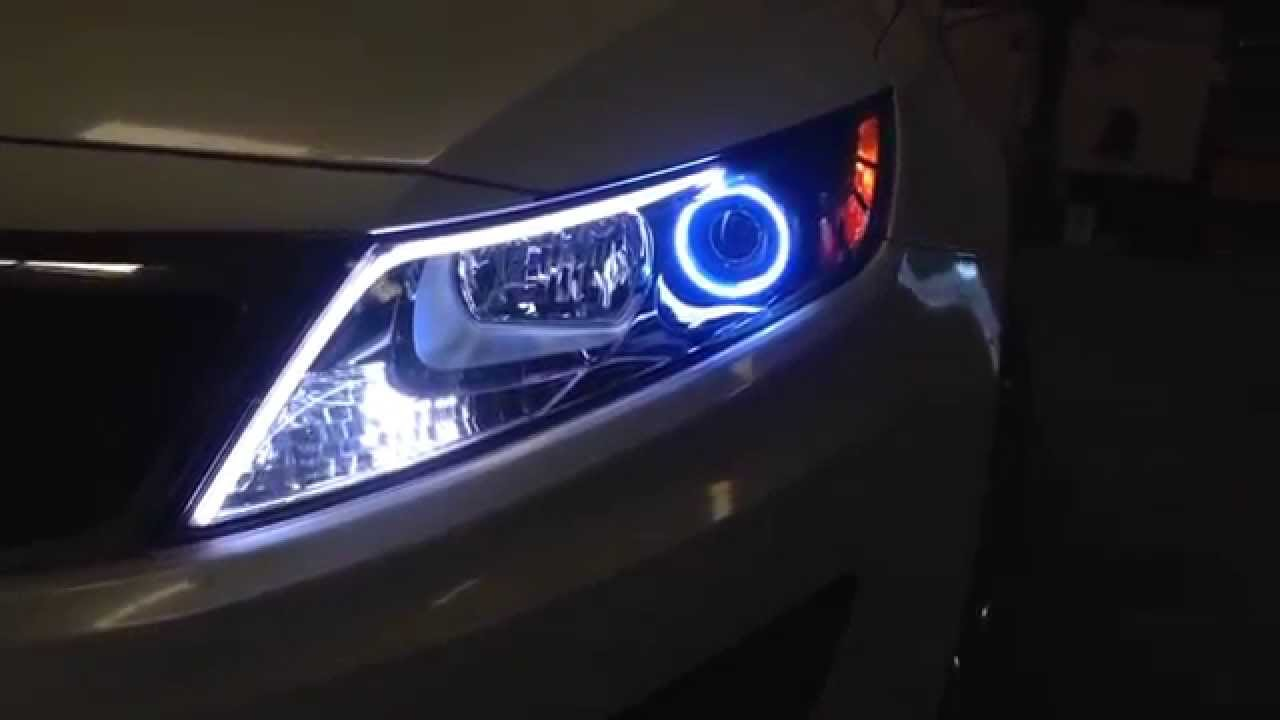 The Hid Factory 2011 Kia Optima With Led Concept Strips S Youtube My