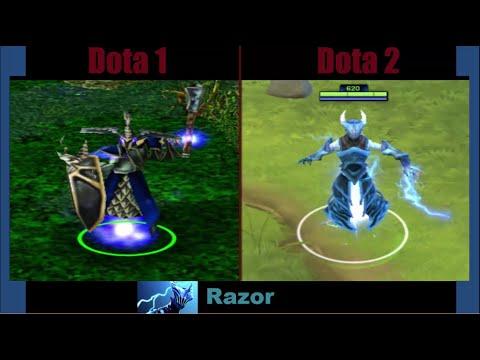 Dota 1 vs Dota 2 (Heroes) part I