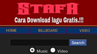 Download Cara mendownload lagu di StafaBand