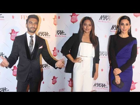 Ranveer Singh, Karisma Kapoor, Sonakshi Sinha And Others At Nykaa Beauty Awards