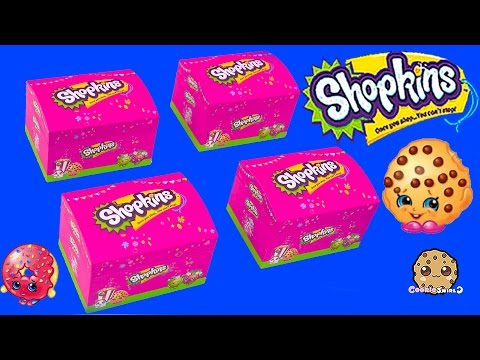 4 Shopkins Jewelry Boxes Charm Necklaces & Earrings Season 1 Characters Cookieswirlc Video