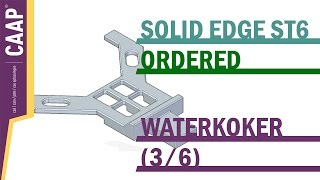 Solid Edge - Part - Extrude Cut Slot Pattern - Waterkoker