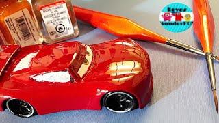 Cars 3 custom Next Gen racer Lightning Mcqueen| How to draw and paint a diecast car part 1