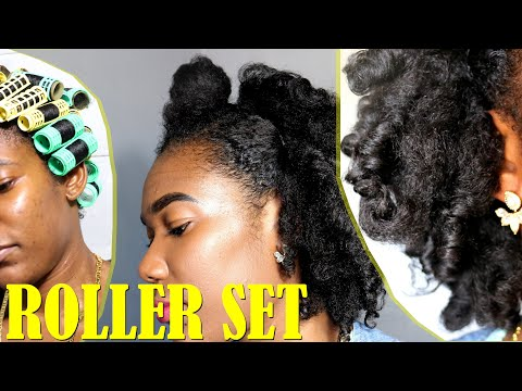 using-my-granny's-old-rollers|-roller-set-on-4b/4c-natural-hair-✔️jah-nette