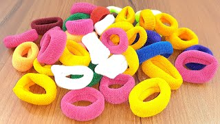 Rubber band & plastic bottle caps Crafting for home decor | best out of waste | diy decorating