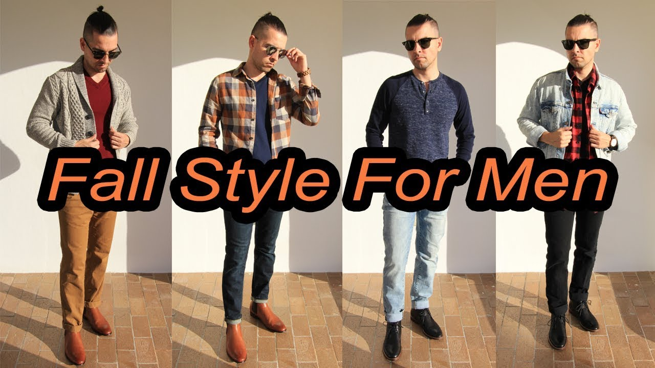 4 Casual Fall Outfits For Men | Featuring Chukka Boots and Chelsea Boots