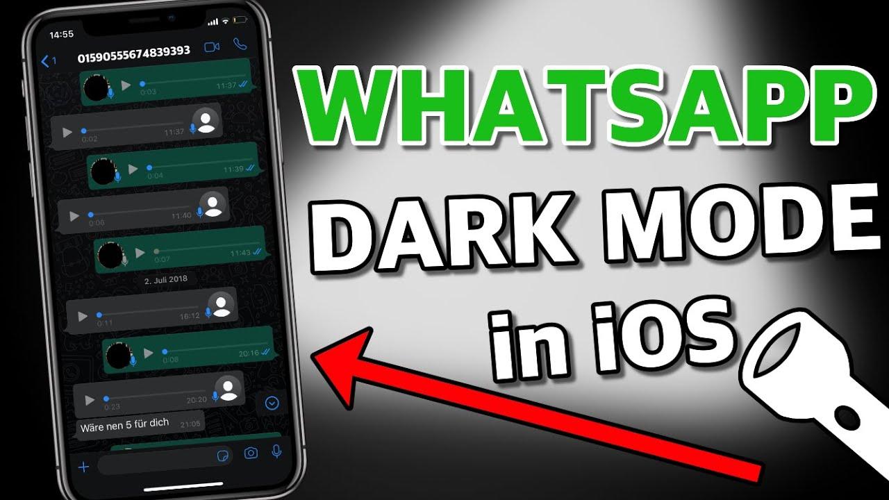 WhatsApp Darkmode für iPhone/ iOS aktivieren