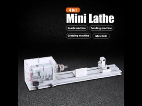 Raitool LB-01 Mini Lathe Beads Machine Wood Working DIY Lathe Polishing Drill Rotary Tool DC 24V