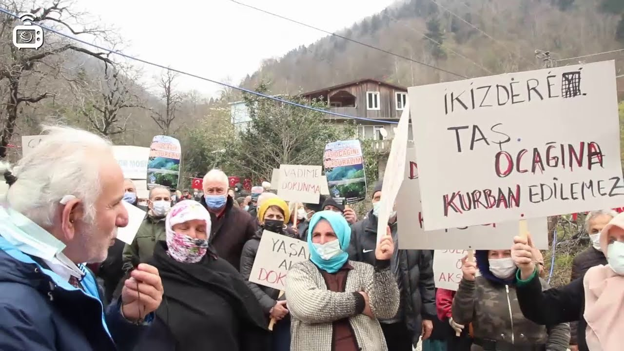 Rize İkizdere'de Taş Ocağı Protestosu: