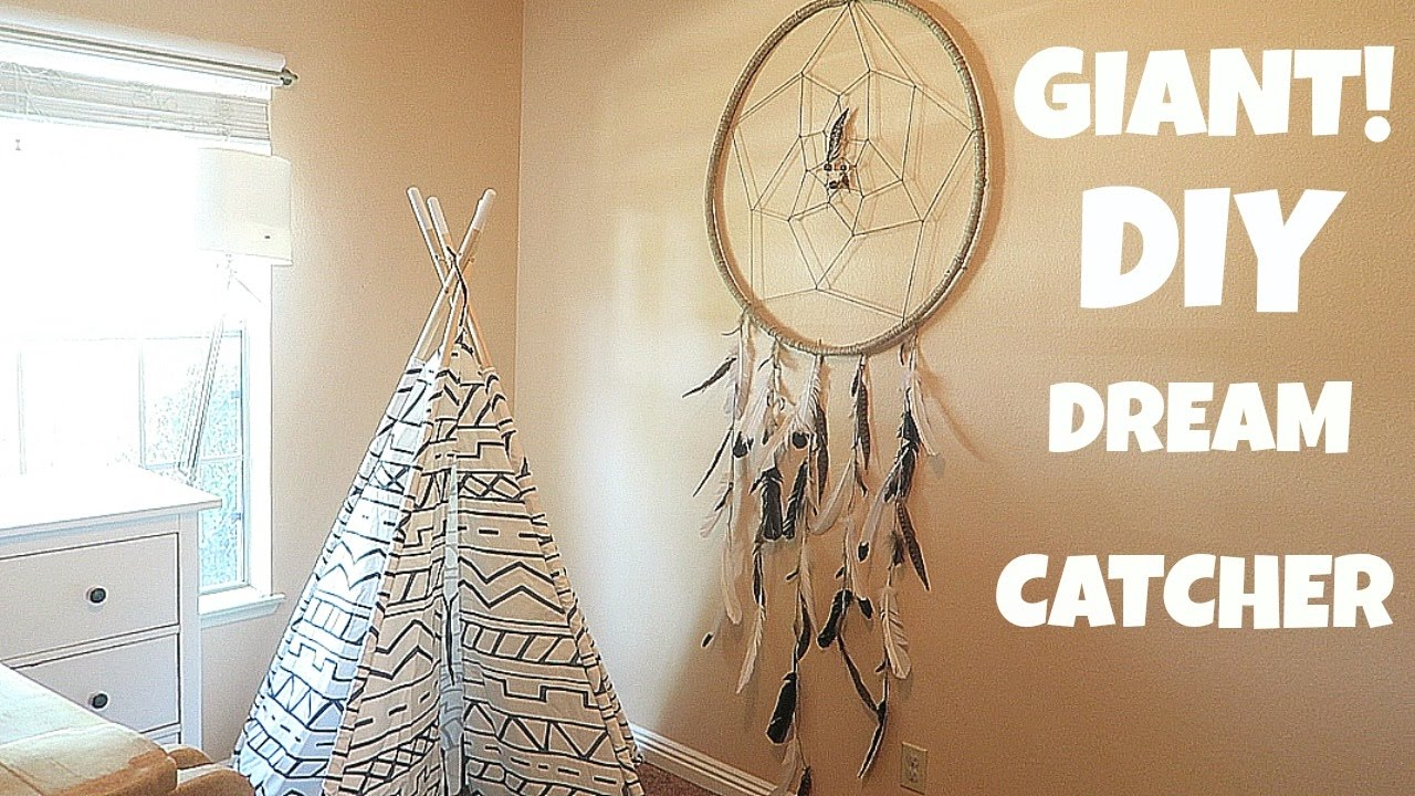 How To Make A Big Dream Catcher HOW TO MAKE A EASY GIANT DREAM CATCHER YouTube 1