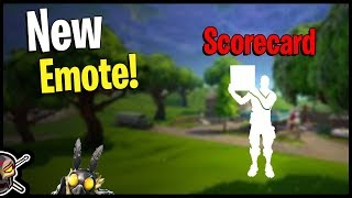 Scorecard Emote | Review | Fortnite Emotes