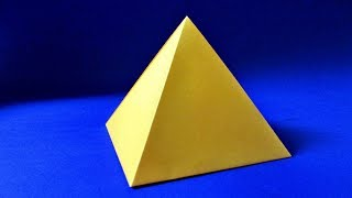 Как сделать пирамиду из бумаги. Пирамида оригами
