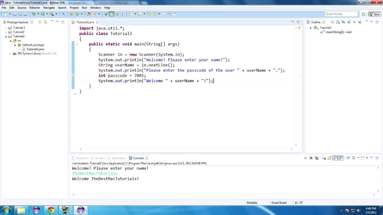 Java Tutorial 3: Hello Scanner and Random! - YouTube