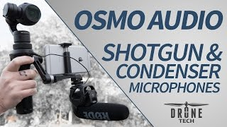 dji osmo audio test shotgun condenser microphones rode sennheiser sony movo