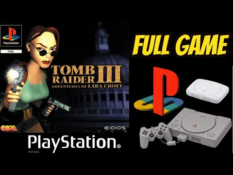Tomb Raider 3: Adventures Of Lara Croft (PS1) Gameplay Walkthrough 100% All Secrets NO COMMENTARY