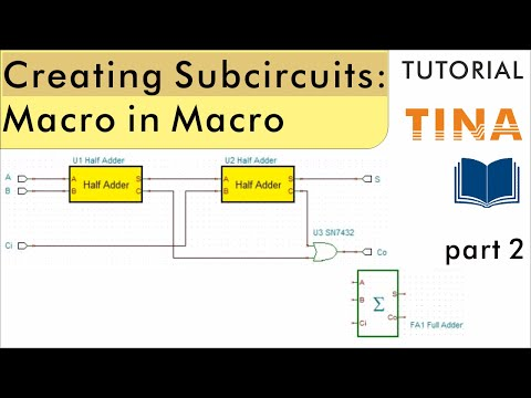 Creating Subcircuits from Schematics in TINA, part 2: Macro in Macro