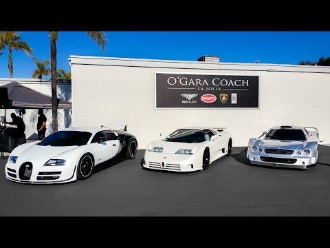 O'Gara Cars & Coffee: CLK GTR,  3x Bugatti Veyron, EB110 & CHROME!