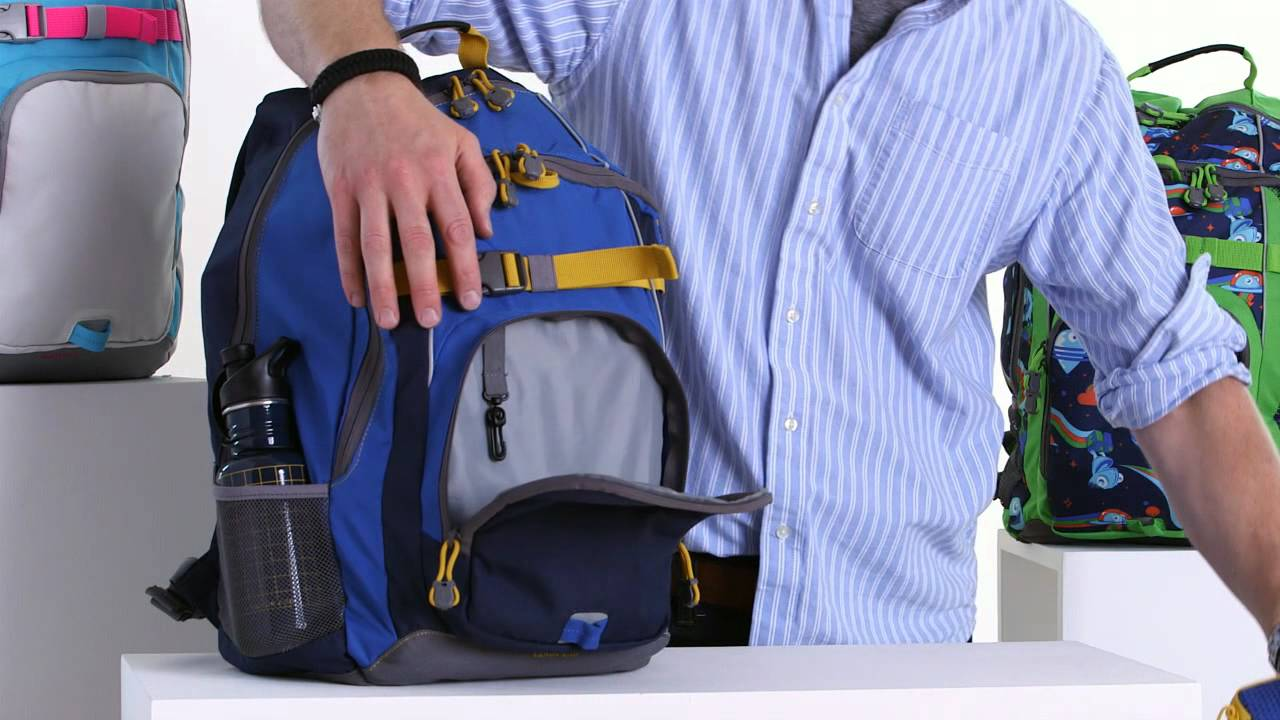 Lands' End® ClassMate Large Backpack - YouTube