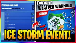 *NEW* ICE STORM EVENT IN FORTNITE INFO! + LEAKED SOUNDS + FREE WRAP! | Fortnite Leaks