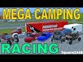 Farming Simulator 17 | Mega Camping | NASCAR Racing | Dirt Track Racing | Multiplayer