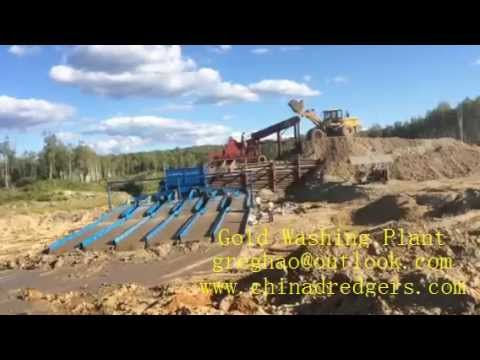 Large Gold Washing Plant for alluvial gold placer gold