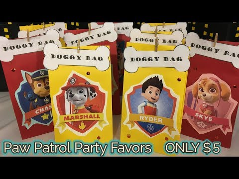 DIY Paw Patrol Party Favor Gift Bags   $5 DIY   FREE Templates Included