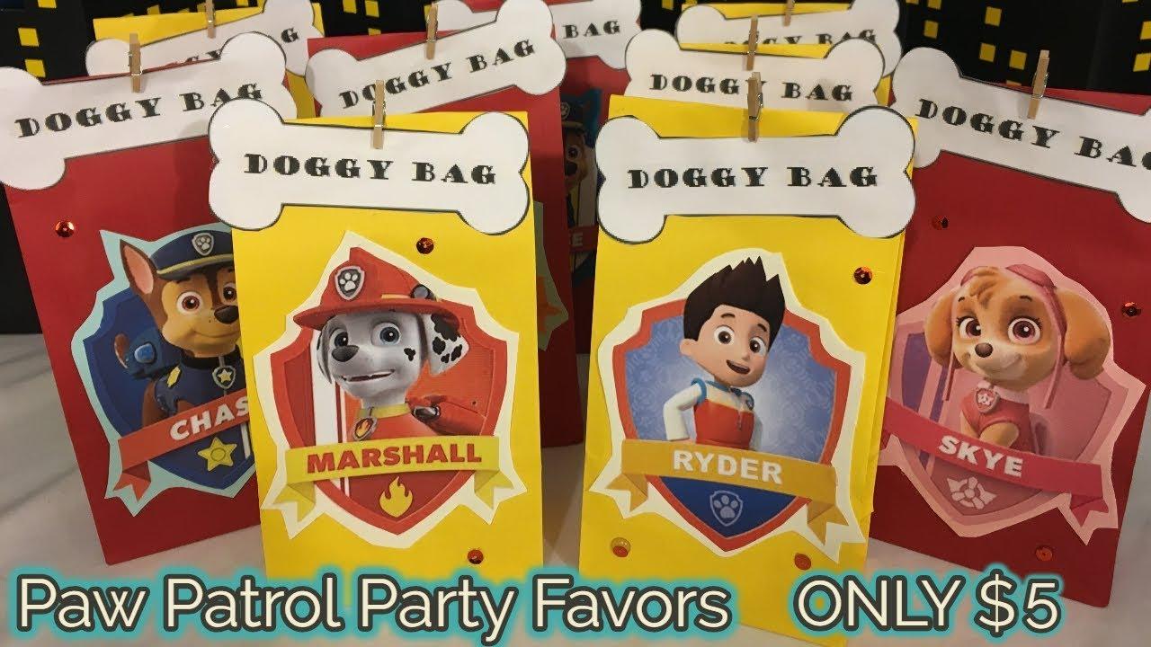 Paw Patrol Favor Bags Paw Patrol Party Paw Patrol Party Bags Paw Patrol Party Supplies Paw Patrol Treat Bags Paw Patrol Goody Bags