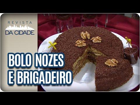 Receita de Bolo de Nozes com Brigadeiro - Revista da Cidade (03/03/2017)